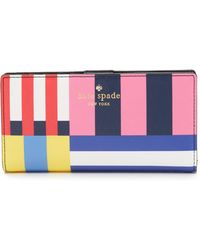 Kate Spade   Flag Stripes Stacy Wallet - Multi   Lyst