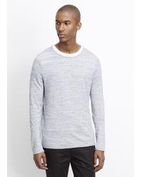 Vince | Sporty Jaspé Long Sleeve Lightweight Sweater | Lyst