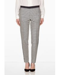 By Malene Birger Tilaka Monochrome Stripe Trouser - Lyst