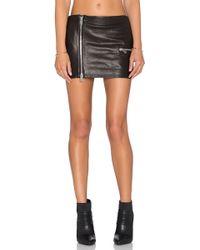 Anine Bing   Biker Leather Skirt   Lyst