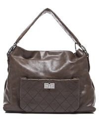 Chanel Pre-owned Distressed Marais Ligne Hobo Bag - Lyst