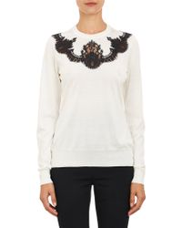 Dolce & Gabbana Lace Appliqué Sweater - Lyst