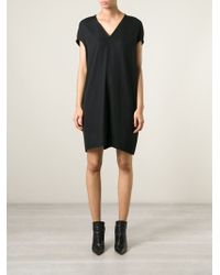 Rick Owens V-Neck Dress - Lyst