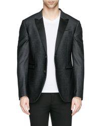 Neil Barrett Peak Lapel Denim Tuxedo Jacket - Lyst