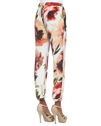 Haute Hippie Floralprint Drawstring Easy Pants - Lyst