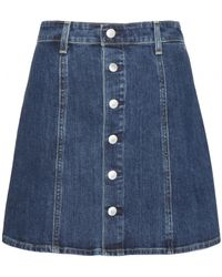 Alexa Chung For AG The Kety Denim Mini Skirt - Lyst
