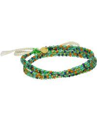 Chan Luu 20 1'2 Cotton Cord Neon Green Mix Adjustable Bracelet - Lyst