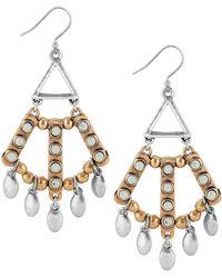 Lucky Brand - Embellished Two-tone Chandelier Earrings - Lyst