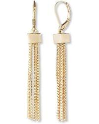 Anne Klein - Goldtone Tassel Earrings - Lyst