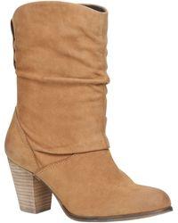 Aldo Huska Almond Toe Block Heel Boots - Lyst