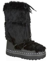 Bogner - Lace Up Fur Boot - Lyst