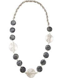 Devon Leigh Multi-Stone Medallion Necklace - Lyst