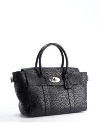 Mulberry Black Pebbled Leather Bayswater Buckle Tote Bag - Lyst