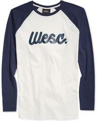 Wesc Flow Script Raglan T-shirt - Lyst