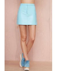 Nasty Gal Missy Skins Sunrise Leather Mini Skirt - Lyst
