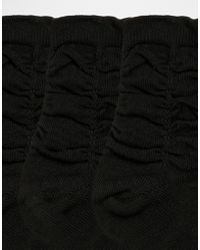 Ruby Rocks - 3 Pack Of Ruched Socks - Lyst