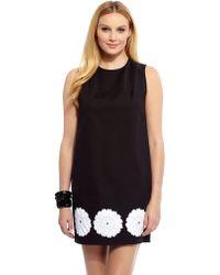 Debbie Shuchat - Floral Applique Shift Dress - Lyst