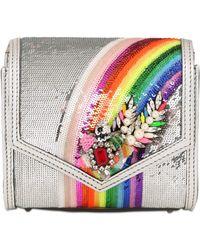 Shourouk - Small Daktari Embellished Sequin Bag - Lyst
