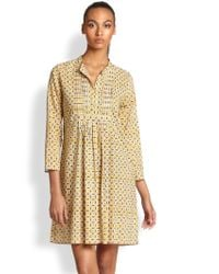 Roberta Roller Rabbit Geometric Dot Pintucked Cotton Dress - Lyst