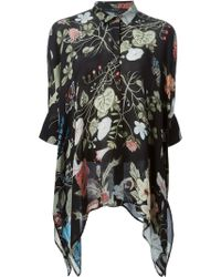 Gucci 'Flora' By Kris Knight Oversized Shirt - Lyst