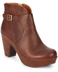 Kork-Ease - Ramona Leather Booties - Lyst