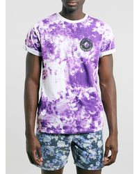 Topman Purple Smoke Wash Tshirt - Lyst