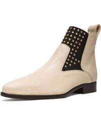 Chloé Studded Leather Boots - Lyst