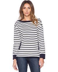 Kate Spade Stripe Pocket Top - Lyst