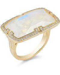 Ivanka Trump - Patras Rainbow Moonstone East-West Ring With Deco Diamond - Lyst