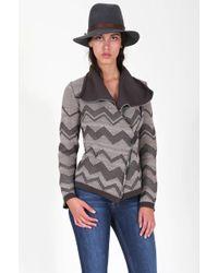 Goddis Malik Chevron Knit Jacket - Lyst