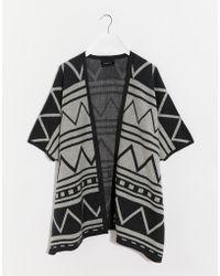La Fee Verte - Printed Poncho Style Cardigan - Lyst