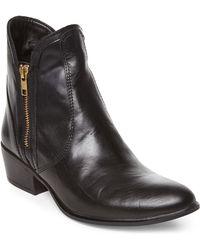 Steve Madden Black Zipstr Ankle Boots black - Lyst