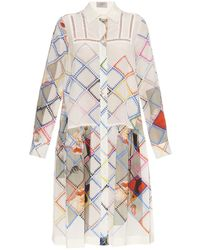 Preen Multi-Print Silk Shirt Dress - Lyst