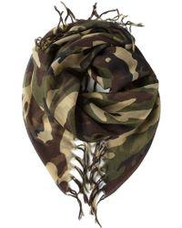 Saint Laurent Camouflage Scarf - Lyst