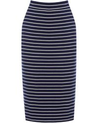 Oasis M Stripe Skirt - Lyst