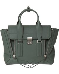 3.1 Phillip Lim Pebbled Leather Medium Pashli - Lyst
