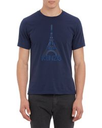 Kenzo Abstract Eiffel Tower T-Shirt - Lyst