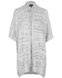 Topshop Salt And Pepper Cape Cardigan - Lyst