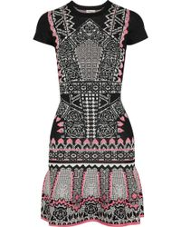Temperley London Keita Intarsia Jersey Mini Dress - Lyst