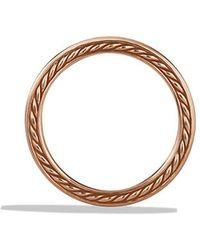 David Yurman Streamline Two-Row Band Ring In Rose Gold - Lyst