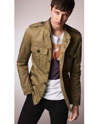 Burberry Cotton Twill Field Jacket - Lyst