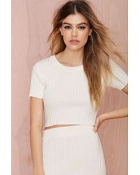 Nasty Gal Knitz By For Love & Lemons Back To Basics Crop Top - Lyst