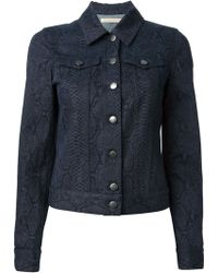 Christopher Kane Snakeskin Denim Jacket - Lyst