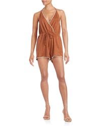 Lord & Taylor | Faux Suede Halter Romper | Lyst