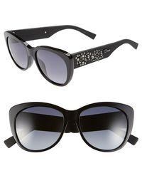 Dior 'Inedites' 56Mm Cat Eye Sunglasses black - Lyst