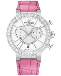 Swarovski Women'S Swiss Chronograph Pink Croc-Embossed Leather Strap Watch 38Mm 5096008 - Lyst
