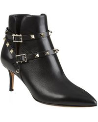 Valentino Rockstud 65 Leather Ankle Boot - Lyst