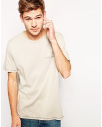 Asos Tshirt with Relaxed Fit Ribbed Jersey - Lyst
