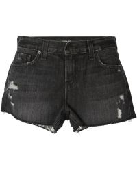 J Brand Gray Distressed Shorts - Lyst