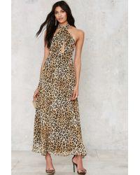 Nasty Gal | Leopard On My French Maxi Dress | Lyst